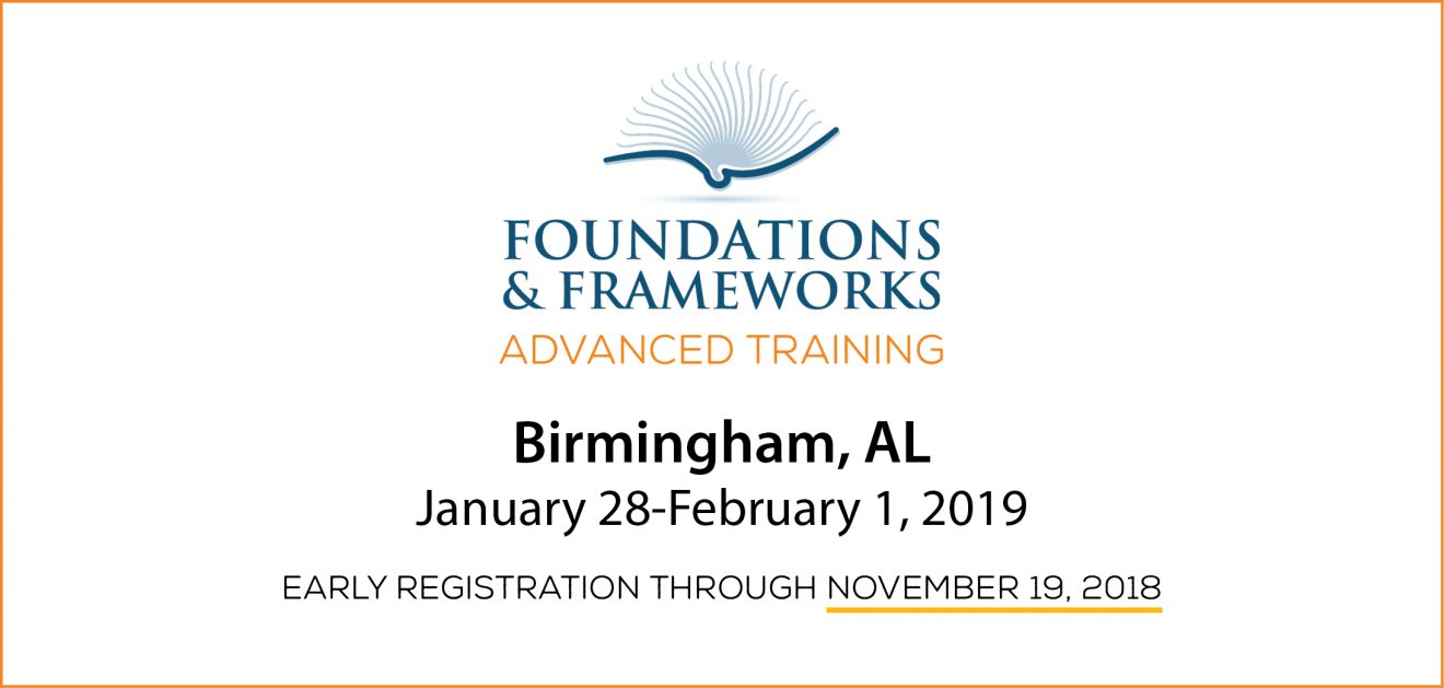 Save the Date! F&F Advanced Training 2019